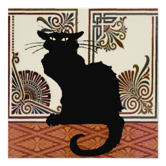 Black Cat With Art Screen Card