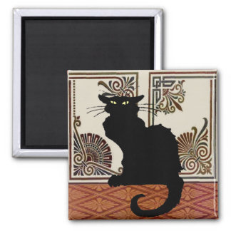 Black Cat With Art Screen Magnets