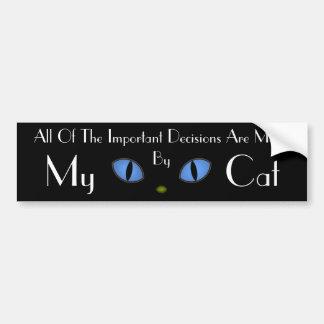 Black Cat With Big Blue Eyes Bumper Sticker