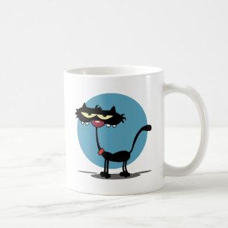 Black Cat with Blue Circle Mug