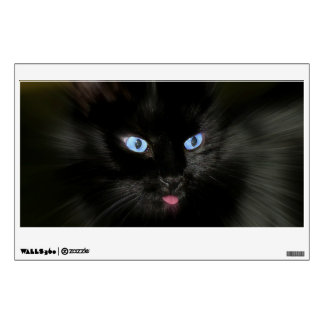 Black Cat with Blue Eyes Wall Decal