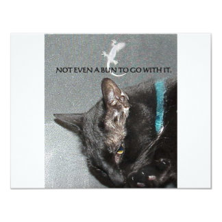 BLACK CAT WITH GECKO CARD