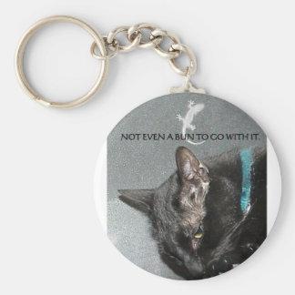 BLACK CAT WITH GECKO KEYCHAIN