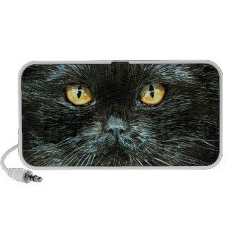 Black cat with gold eyes speaker