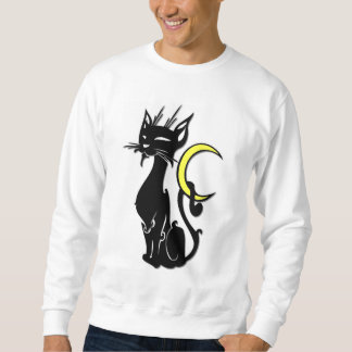 Black Cat with Moon Sweatshirt