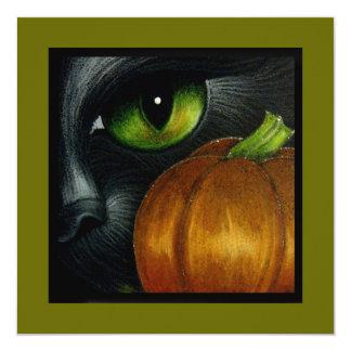 BLACK CAT with PUMPKIN HALLOWEEN CUSTOMIZE CARD