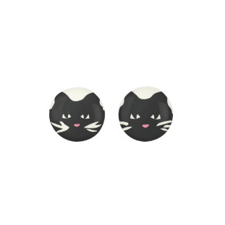 BLACK CAT With White Whiskers Earrings