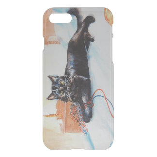 Black Cat with Yarn iPhone 8/7 Case