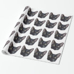 Black Cat Wrapping Paper