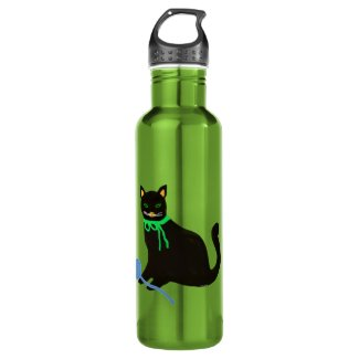 Black Cat Yarn Play Water Bottle