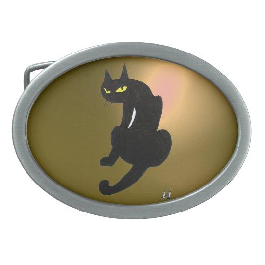 BLACK CAT yellow Belt Buckle
