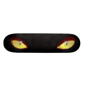 Black Cat Yellow Eyes Skateboard