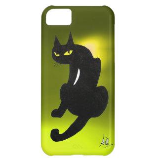 BLACK CAT yellow iPhone 5C Cases