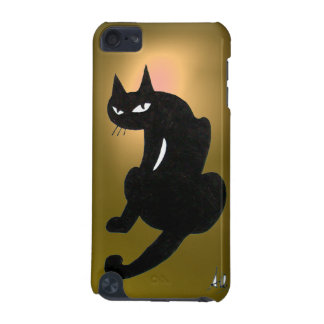 BLACK CAT yellow iPod Touch 5G Case