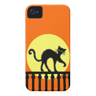 Black Cat Yellow Moon Fence Case-Mate iPhone 4 Case