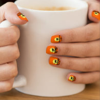 Black Cat Yellow Moon Fence Minx ® Nail Wraps