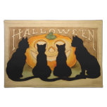 Black Cats and a Jack O'Lantern Cloth Placemat