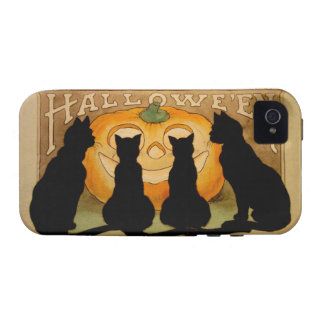Black Cats and a Jack O'Lantern iPhone 4/4S Case