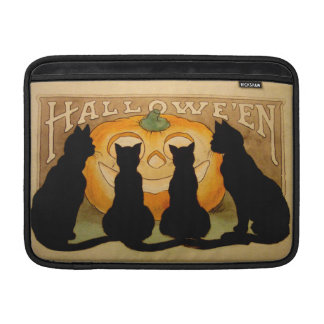 Black Cats and a Jack O'Lantern MacBook Sleeve
