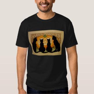Black Cats and a Jack O'Lantern Shirt