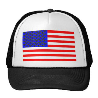 Black Cats And Stripes Flag Trucker Hat