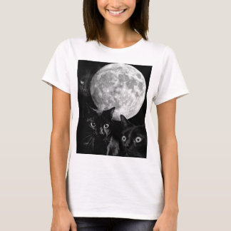 Black cats and the Moon T-Shirt