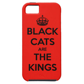 Black Cats are King - Red Background iPhone SE/5/5s Case
