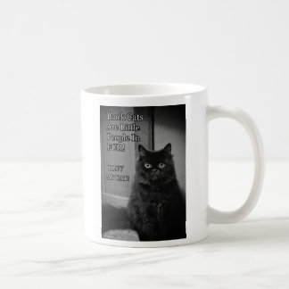Black cats are little people in fur Mug
