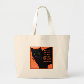 Black Cats Aren't Scary Canvas Bag