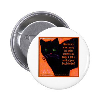 Black Cats Aren't Scary Button