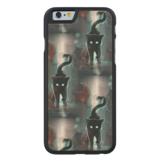 Black Cats Carved® Maple iPhone 6 Case