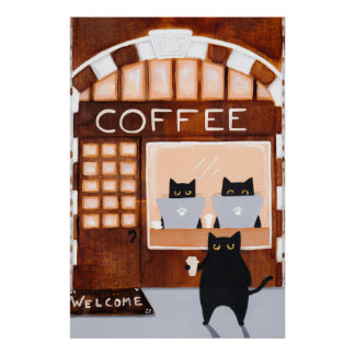 Black Cats Coffee House Poster
