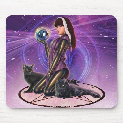 """""""Black Cats Divination"""" Mouse Pad"""