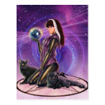 """""""Black Cats Divination"""" Post Cards"""