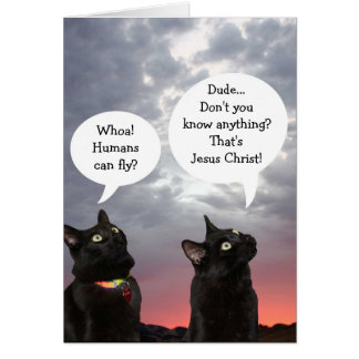 Black Cats Easter Card Greeting Card