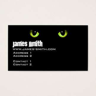 Black Cat's Eyes Green Business Card