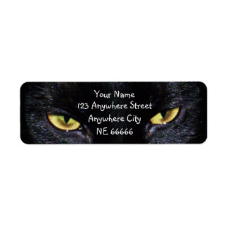 Black Cat's Eyes Return Address Labels
