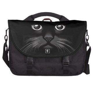 Black Cat's Eyes Watching You Laptop Bag