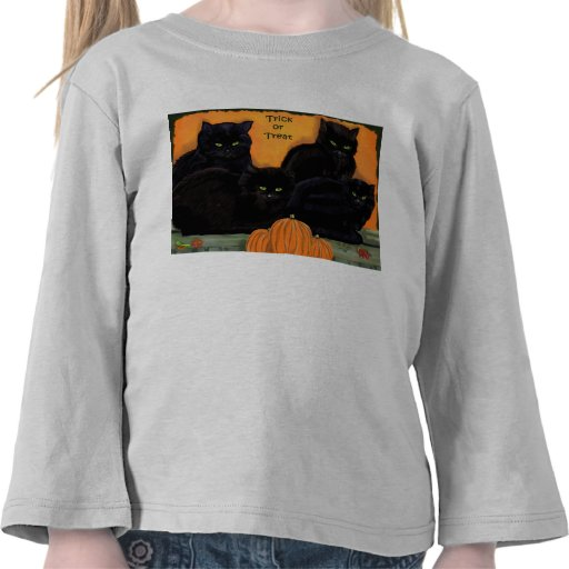 Black Cats Halloween toddler long-sleeved tee
