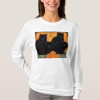 Black Cats Halloween women's sweatshirt