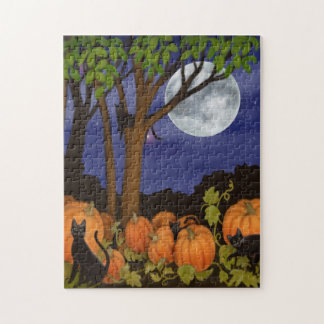 Black Cats in the Pumpkin Patch Puzzle