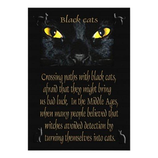 Black cats invitation