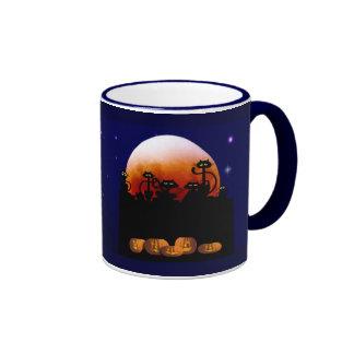 Black Cats, Moon, Pumpkins Mug