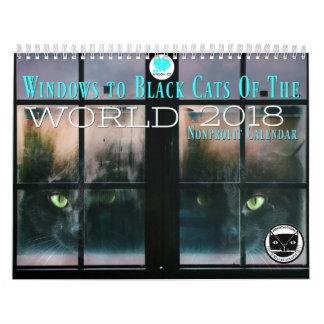 Black Cats Of the World 2018 Calendar