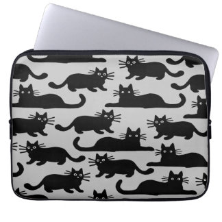 Black Cats Pattern Laptop Computer Sleeves