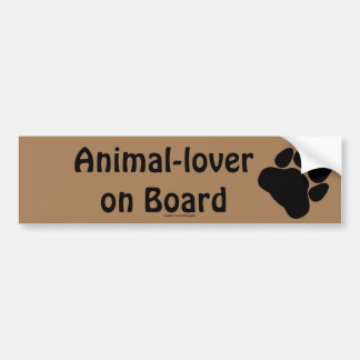 Black Cat's Paw Print for Pet-lovers Bumper Sticker