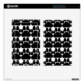 Black Cat's Paw Print for Pet-lovers Kindle Fire Skin