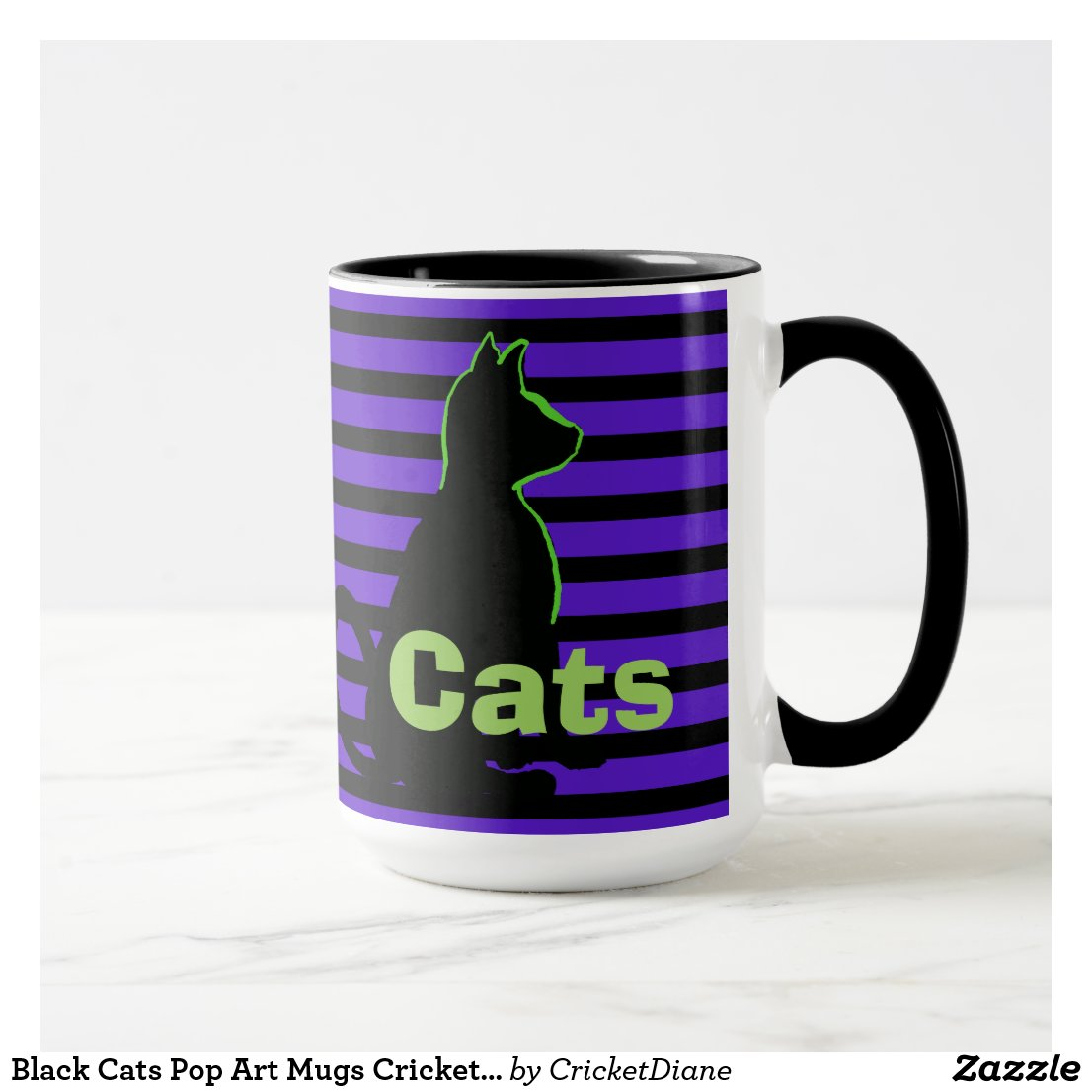 Black Cats Pop Art Mugs CricketDiane
