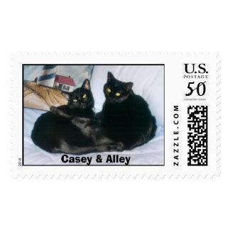 Black Cats Postage