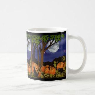 Black Cats & Pumpkins Mug